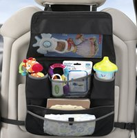 Wholesale Universal Auto Sports - Universal Auto Car Back seat organizer storage bags Pocket Phone iPad Cup holder Tissue organizer