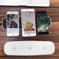 ingrosso il migliore caricatore senza fili di iphone-Per iphone x QI Caricabatterie wireless universale 3 in 1 Supporto di ricarica multifunzione Supporto caricabatterie wireless per iPhone 8 plus Samsung S8
