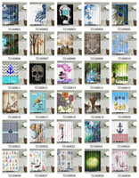 Wholesale Showers Curtains - Shower Curtain 165*180cm Waterproof 3D Printing Pattern Bathroom Shower Curtain Home Decoration with 12 Hooks Free Shipping by DHL