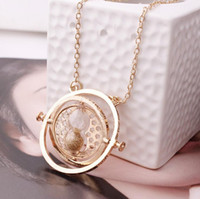 Fashion Gold Hourglass Pendentif Collier Time Turner Collier Hermione Granger Rotating Spins Vintage Long Sweater Collier Cheap Sale