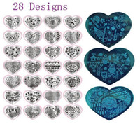 Wholesale Templates For Printing - New Fashion 28 Designs Nail Print Stamp Plates Nail Art Template For Nail DIY Polish Beauty