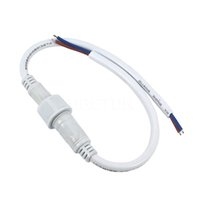 Wholesale Low Price New Laptops - 10pcs New arrive Drop shipping 3 x 0.5 m (sq.m.) LED Strips 2 Pin Waterproof Power Connector Cable White color Lowest price