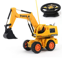 Wholesale Large Toy Excavator - Wholesale- Baby toys 5Ch large Remote control engineering truck excavator car boy toys rc car electric bulldozer kids toy gifts