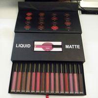 Wholesale Lipstick Making Set - Beauty Matte Liquid Lipstick 16 colors Make up Kit Set Long-lasting Comfortable Matter Liquid Lipsticks Best Gift