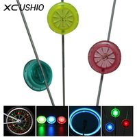 Wholesale Colorful Mtb Wheels - Wholesale- New Arrival Colorful Bicycle Wheel Spoke Lights Cycling Accessories MTB Hot Wheels Safety Lamp Blue Red Green Colors Wholesale
