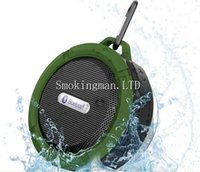 Wholesale Altavoz Subwoofer - Portable Waterproof Outdoor Wireless Car Bluetooth Speaker C6 bluetooth altavoz Speaker Hook And Suction Cup Stereo Music Audio Player