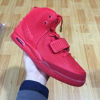 Wholesale kanye west red octobers online - High qualtiy Kanye West II Red October Men s Basketball shoes Sport Footwear Trainers Shoes size eur