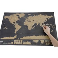 Wholesale Luxury Wall Decals - Deluxe Scratch Map Luxury Wall Stickers Home Decor One Piece In Stock Deluxe Scratch World Map Wallpaper