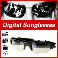 Wholesale Video Glasses For Sale - Wholesale-Arrival Hot Sale Digital glasses Audio Video Camera DV DVR Sunglasses cam Sport Camcorder Recorder For Driving Outdoor