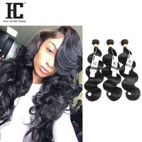 HC Hair Body Wave Virgin Human Hair Weave 3 Bundles Unprocessed Brazillian Indian peruana Malaio Camboiano Straight Body Wave Extensions