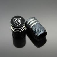 Wholesale Black Journey - Sport Styling Auto Accessories Car Wheel Tire Valve Caps Case For Dodge Challenger Journey Caliber Avenger ect. (4Piece set)