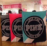 Wholesale Blanket Sleepers - Love Pink Blankets Blanket 130*150cm Plane Travel Plaids Bedding Towel VS Pink Letter Victoria Sleeper Blanket