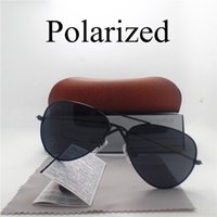 Wholesale Drivers Glasses - Luxury High Quality Polarized Sunglasses For Men Women Sport Driver Mirror eyeglasses Anti-Glare Brand Design Unisex Glasses with Cases Box