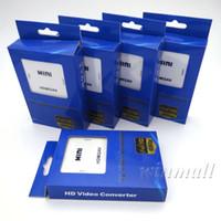 Wholesale Rca Usb Video - Mini HD Video Converter Box HDMI to RCA AV CVSB Video 480P 720P 1080P HDMI2AV Support NTSC PAL Output HDMI TO AV Adapter