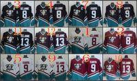 Wholesale Cheap Black Spandex - 2017 Cheap Cord NHL Anaheim Ducks #8 Teemu Selanne 9 Paul Kariya 13 Teemu Selanne White Purple Black Red CCM Hockey Jersey Stitched Mix Orde
