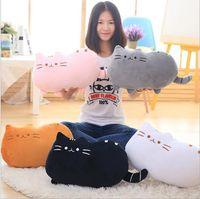 Wholesale Cheap Stuffed Toys - Soft Cute Big Cat Shaped Pillow Cushion Sofa Decoration Stuffed Toys Doll Home Decor Plus Animals Stock Cheap 2017 Orange