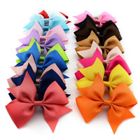 Wholesale Girls Hairclips Ribbons Bows - 565 High Quality Baby Ribbon Bows with Clip Grosgrain Flower Hairclips Children Girls Hair Bows Hair Accessories 20pcs lot Wholesale
