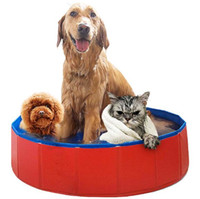 Wholesale Product Pool - Pet products Large PVC Foldable Swimming Pool For Big Dog Bathtub Cat Kitten Teddy