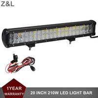 20 '' 210W Offroad LED Light Bar Car Auto ATV UTV 4X4 4WD SUV Camion Wagon Van Camper Pick-up 12V 24 V Combo Faro guida