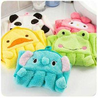 Wholesale Thick Kitchen Towels - Super Absorbent Towel Wipe Kitchen Hanging Cartoon Wipes Candy Soft Coral Velvet Thick Rub Hand Towel Dish Towel LDH50