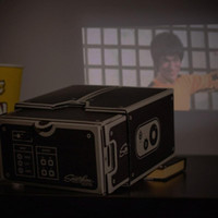 Wholesale Smartphone Hdmi - Wholesale-Universal Mini Portable Cinema DIY Cardboard Smartphone Mobile phone Projector