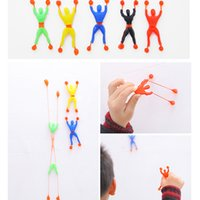 Wholesale Tall Toys For Kids - Novel Turn Somersault Spiderman Elf Toys Viscous Paws Climbing wall tall Hot sale Creative Toys For children Kids Toy