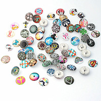 Wholesale Acrylic Button Assorted - wholesale assorted 100PCs 18mm Acrylic Glass Buttons Snaps chunk charms DIY Jewelry for Bracelets brand new