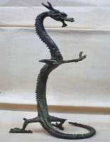bronz dragon heykelleri toptan satış-Nefis bronz Çin ejderha heykeli Rakamlar 17