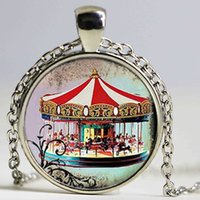 Wholesale Wholesale Merry Round Gift - Merry Go Round Statement Necklace, Merry Go Round Jewelry, Carnival Choker Necklace Women Men, Circus Jewelry
