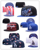 Wholesale Two Tone Women Hats - Wholesale Newest hot sport team Adjustable caps flat brim two tone full closed design Los Angeles Dodgers camo black baseball men women hats