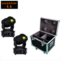 Wholesale Stage Light Moving Gobo - Freeshipping flight case 2in1 packing with 2 units 90W led moving head light DMX512 control led stage moving head gobo lighting 16 channels
