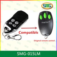 Wholesale Garage Door Remote Merlin - 2pcs Free Shipping garage door opener remote control compatible Merlin Plus 433.92mhz Merlin C945,C943,C940 remotes Merlin+
