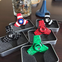 Wholesale Captain America Iron Man Spiderman Hulk Hand Spinner Zinc alloy Spinner Fidget Toy EDC Autism ADHD Finger Gyro Toy Adult Gifts