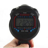 Wholesale Handheld Alarm Clock - Wholesale- 1pc Sports Stopwatch Stop Watch Alarm Clock Hiking Tools Digital Handheld LCD Chronograph Timer Sports Stopwatch