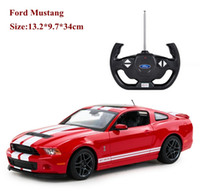 Wholesale Rc Drift 14 - Wholesale- New 1 14 Ford Mustang GT500 shelby rc car classic need for speed model drift toy for car fans electric hot model toy juguetes