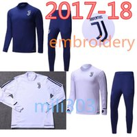 Wholesale Man Clothes Suits - Best quality 17 18 Juve soccer training suit 2017 2018 Higuain Dybala Marchisio Pianic tracksuit Sportswear Set skinny jogging clothing