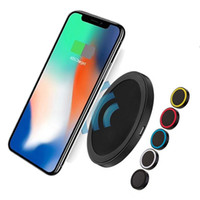 Wholesale wireless g3 - QI Wireless Charging Pad Q5 Mini Wireless Charger for iPhone X 8 Plus Samsung S8 Note 5 HTC LG G3 Fast USB Charger
