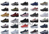Wholesale Neon Shoes For Men - Air 95 Ultra 20th Anniversary Neon Solar Red Volt Sports Shoes Retro Sports Running Shoes For Men 95s Trainer Tennis Sneakers Free Shipping