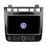 gps touareg al por mayor-Reproductor de DVD de 8 pulgadas Andriod 5.1 para VW TOUAREG 2016 con GPS, control del volante, zona Dua, radio