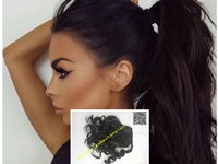 Femmes Noires Ponytail Clip In Body Wave Hair Peruvian Virgin Hair Drawstring Wrap Around Pony Tails Hair Extensions 120g