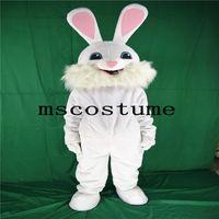traje de coelho mascote adulto venda por atacado-2017 new white rabbit mascot roupa branca traje de Halloween adereços tamanho adulto andando atividade