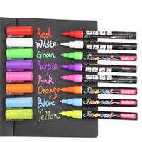 Wholesale Liquid Chalk Pens Wholesale - Wholesale- 1PCS Reversible Tip Highlighter Fluorescent Liquid Chalk Marker Pen for LED Writing Fluorescent Board Liquid Chalk