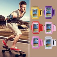 Luxo Outdoor Running Fishing band Para o telefone móvel Leather Case Belt Wrist Strap GYM Arms Mobile Phone Cover