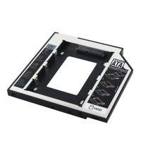 2.5 'sata ssd adaptör toptan satış-Toptan Satış - Evrensel 2.5 2. 9.5mm Ssd Hd cd dvd SATA Sabit Disk Sürücüsü HDD Caddy Adaptörü Bay Cd Dvd Rom için