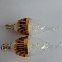 Wholesale Nature Crystal Sale - Hot sale led candle lamp light led crystal lamp CREE chip 6 Watts candle light base e12 e14 warm white cool white 85-265V
