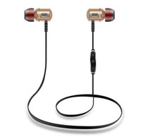 Wholesale Android Sweat - S8 Wireless Bluetooth V4.1 Sport In-Ear Earphone Metal Earbuds DSP Noise Reduction Anti-sweat Headset with Mic for Android IOS Smart Phones