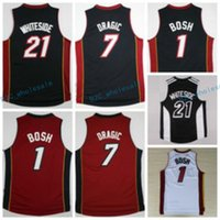 Wholesale Fashion Best - Hot Sale 21 Hassan Whiteside Jersey Throwback 1 Chris Bosh Shirt 7 Goran Dragic Uniforms Fashion Team Color Black Red White Best Quality