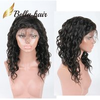 Wholesale natural curl wigs resale online - Natural Wave Human Hair Lace Wig Julienchina Malaysian Fashion Curl Lace Front Wig with Baby Hair Bella Hair Natural Hairline Wigs