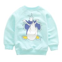 Wholesale Tang Kids - Wholesale- Autumn Children Cotton Sweater Baby Boy Girl Cartoon T-shirt Jacket Tang Laoya Long Sleeve Pullover Kids Sweatshirts Clothing