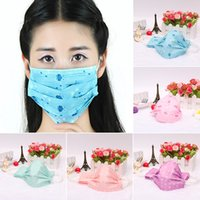 Wholesale 10pcs Pack Lovely Cartoon Prints Chaorou spunlace three disposable face mask respirator earmuffs medical mask